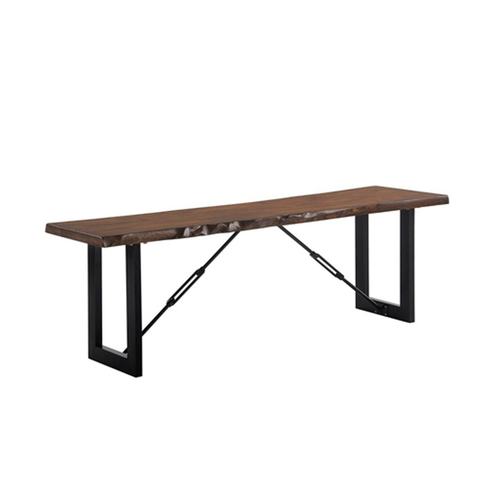 "Image of ""54"""" Wade Wood Dining Bench Walnut - ioHOMES"""