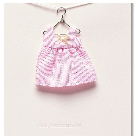 a28a77606 Papyrus Dress New Baby Girl Congratulations Card : Target