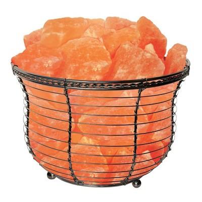 Round Basket Salt Table Lamp - Himalayan Glow