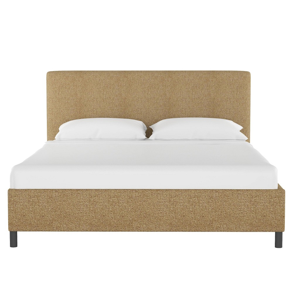 King Upholstered Platform Bed in Aiden Almond Brown - Project 62