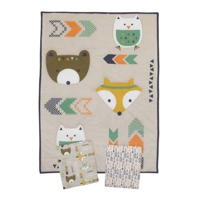 NoJo Little Love Aztec Mini Crib Set - 3pc