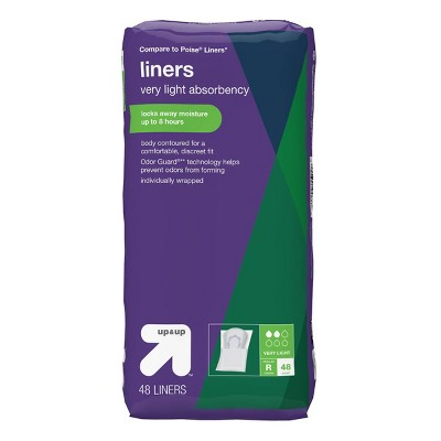 Panty Liners - Very Light Absorbency - 48ct - up & up™