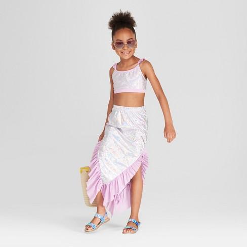 5a05adc223 Girls  Mermaid Swim Skirt - Cat   Jack™ Purple   Target