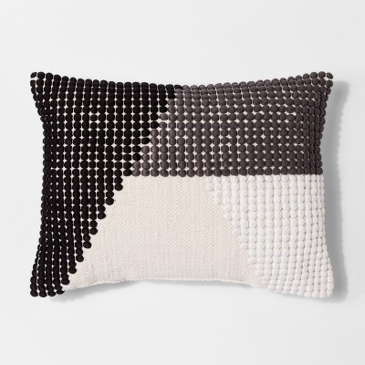 Black Texture Color Block Lumbar Throw Pillow - Project 62™