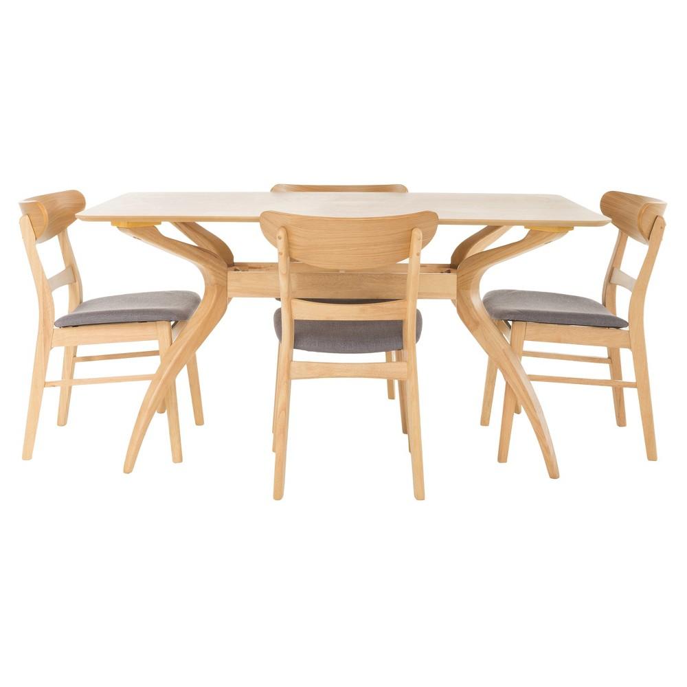 Idalia 60 5pc Dining Set - Dark Gray - Christopher Knight Home, Dark Gray/Brown