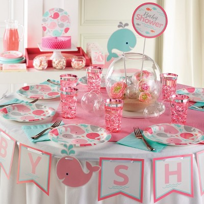 Pink Baby Whale Centerpiece