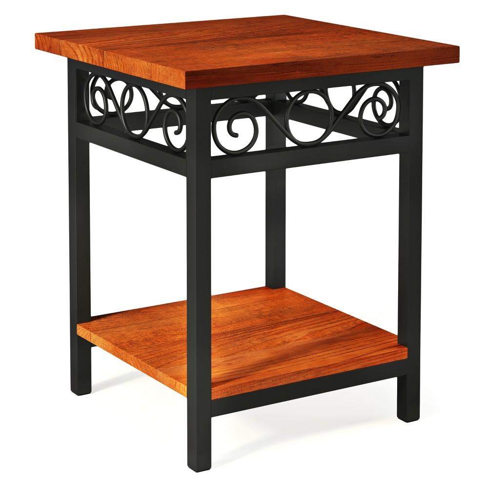 Artesian End Table Hardwood Brown - Alaterre Furniture