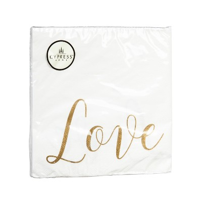 Evergreen Cypress Home Love Paper Lunch Napkin, 20 count