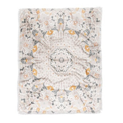 60 X50  Monika Strigel Boho Summer Throw Blanket White - Deny Designs