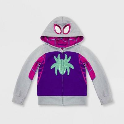 Girls' Spider-Man Ghost Spider Hoodie - Gray/Purple - Disney Store
