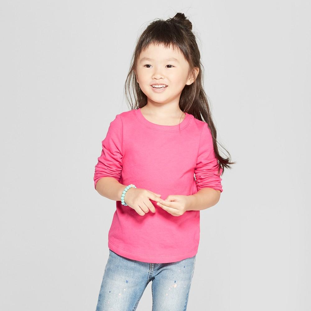 Toddler Girls' Long Sleeve T-Shirt - Cat & Jack Paradise Pink 12M