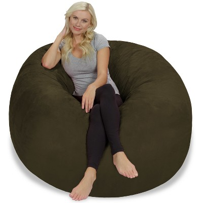 5' Large Bean Bag Chair with Memory Foam Filling and Washable Cover - Relax Sacks