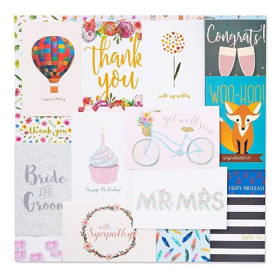 48-Count All Occasion Cards Box Set, Includes Birthday, Wedding, Thank You, Congrats, Sympathy, 48 Unique Designs, Envelopes Included, 4x6 inches