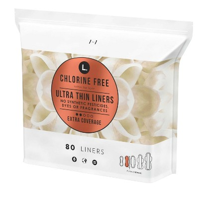 L. Chlorine Free Ultra Thin Extra Coverage Liners - 80ct
