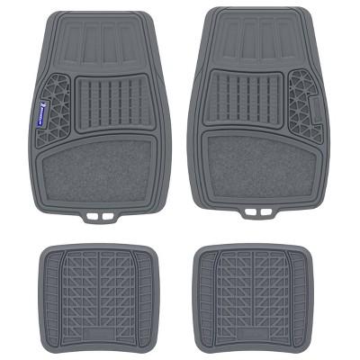 "Michelin 19""x34"" 4pc Rubber Floormat Set Gray"