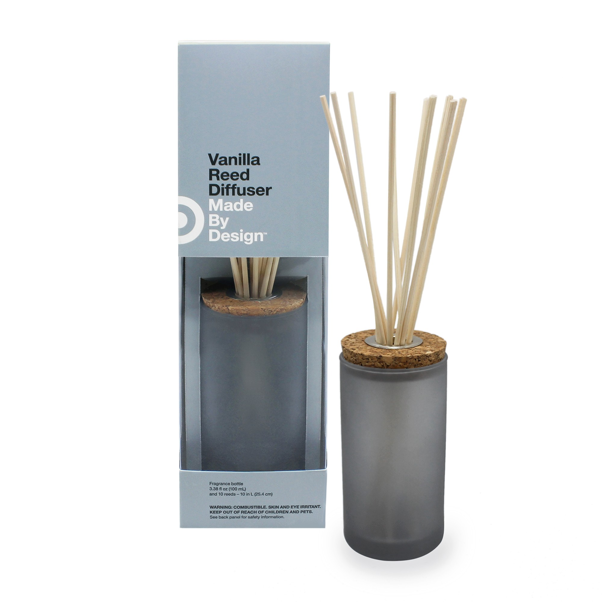 3.38 fl oz Oil Diffuser Vanilla - Made By Design, Gray