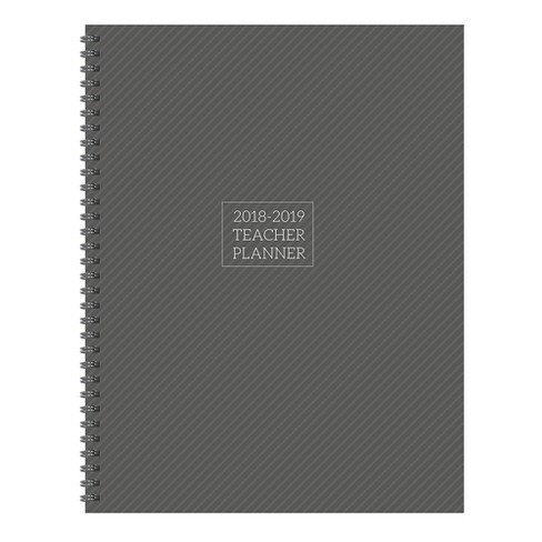 2018 - 2019 Academic Teacher Spiral Monthly Weekly Planner - Gray - image 1 of 8