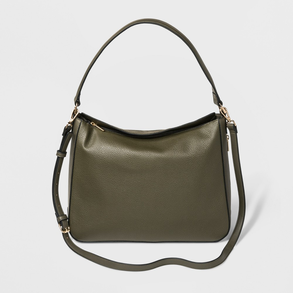 Fold Over Shoulder Hobo Handbag - A New Day Olive (Green), Women's