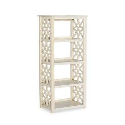 """54.7"""" Whitley Antique Bookshelf White - Linon"""