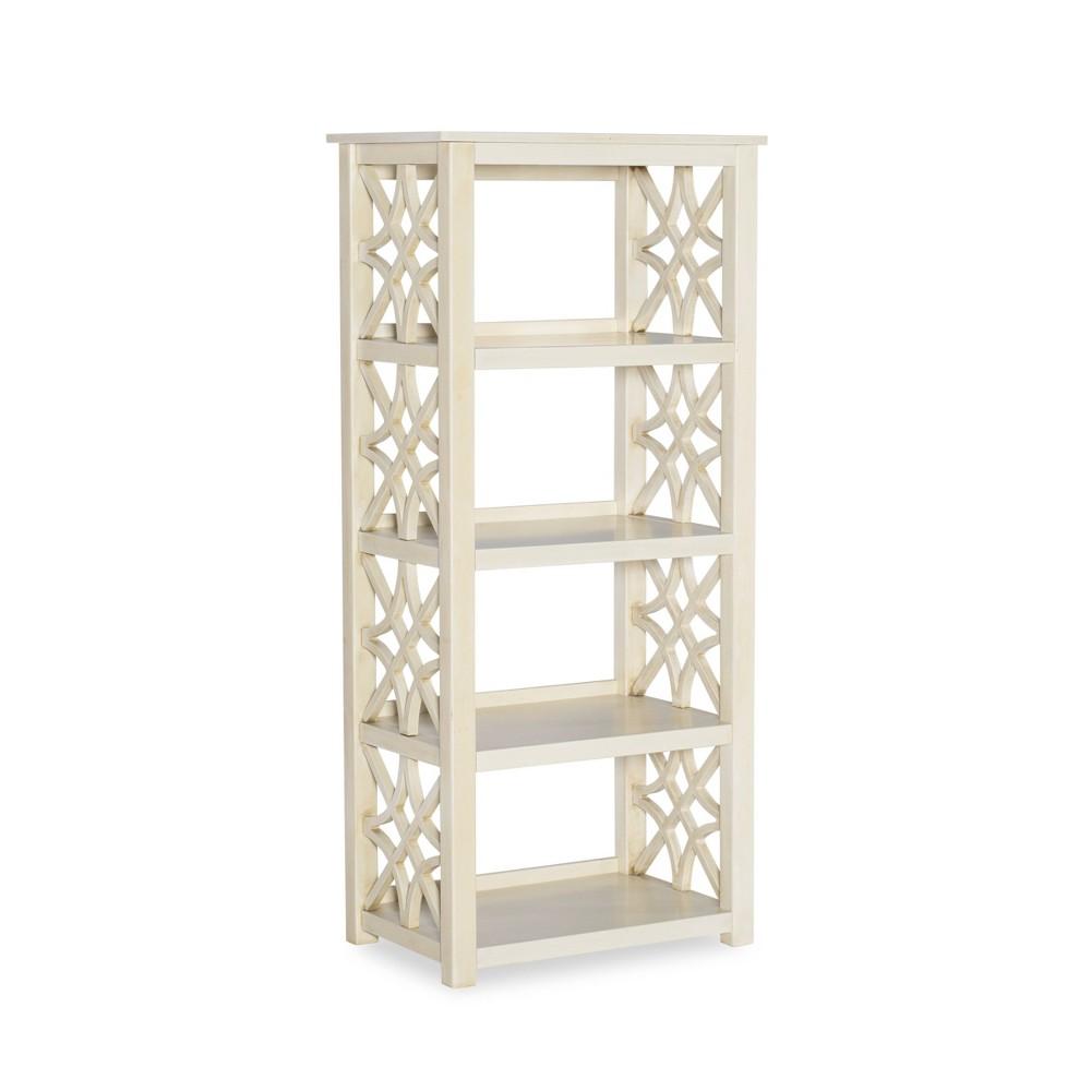 54 7 34 Whitley Antique Bookshelf White Linon
