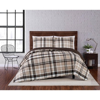 Paulette Plaid Quilt Set Taupe - Truly Soft