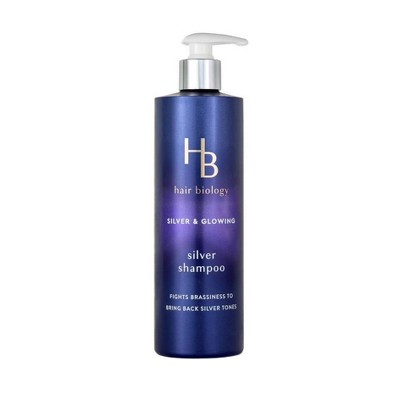 Hair Biology Silver Shampoo with Biotin Silver & Glowing for Gray or Color Treated Hair - 12.8 fl oz