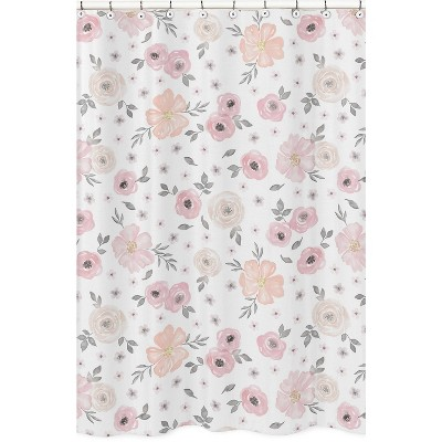 Floral Shower Curtain Pink - Sweet Jojo Designs
