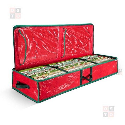 """OSTO Underbed Gift Wrap Storage Bag and Accessory Organizer Fits 18-24 Standard Rolls of 40"""". Tearproof and Water-Resistant - image 1 of 4"""