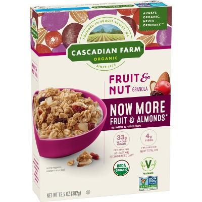 Cascadian Farm Organic Fruit and Nut Granola Breakfast Cereal - 13.5oz