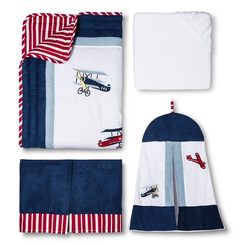 Sweet Jojo Designs Vintage Aviator 11 Pc Crib Bedding Set