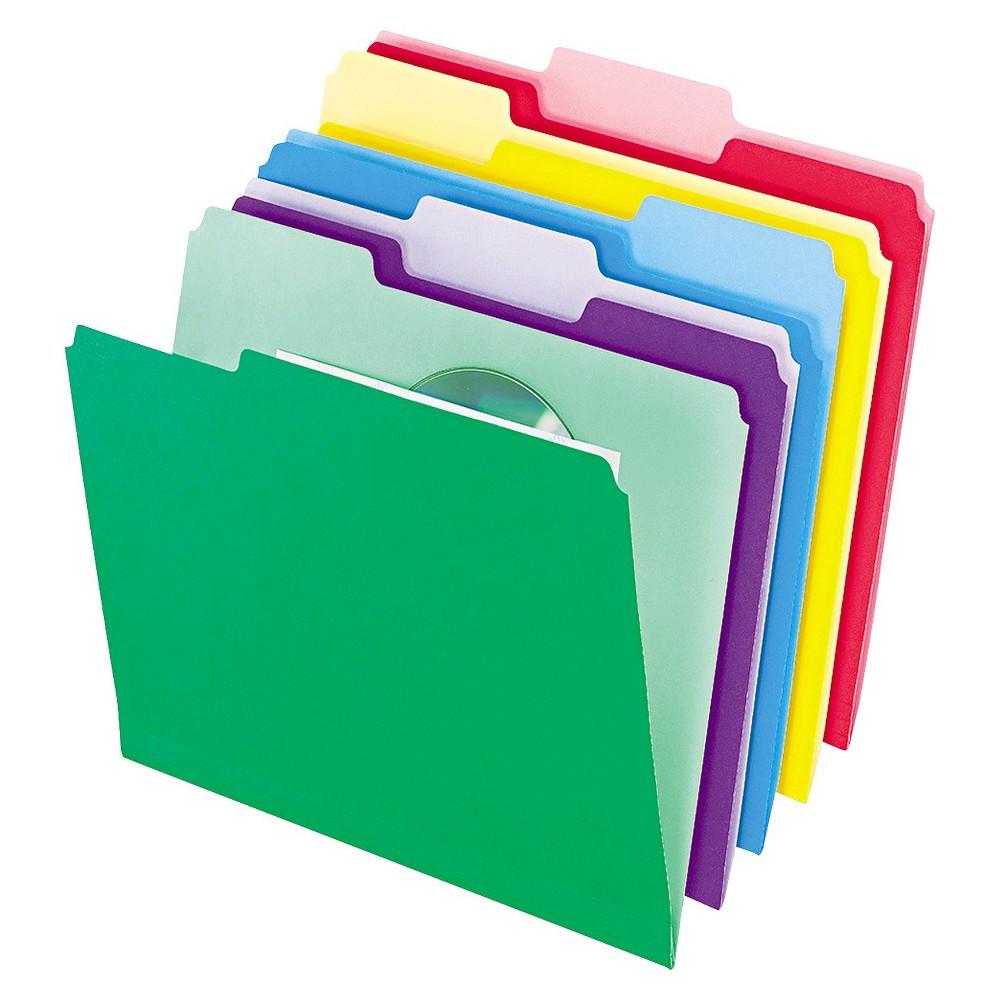 Pendaflex File Paper Folder InfoPocket 1/3 Cut Top Tab Letter Assorted 30/Pack, Multi-Colored