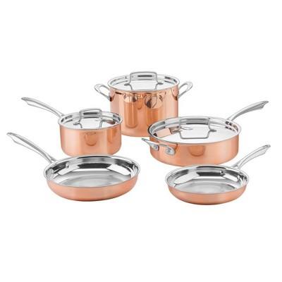 Cuisinart 8pc Copper Tri-Ply Cookware Set - CTPP-8