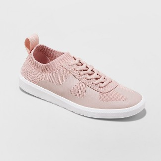 Women's Mad Love Jaycie Sneakers Lace up Knit - Pink 11