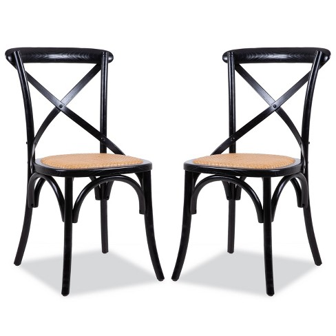 Set of 2 Donovan Mid Century Crossback Chair - Poly & Bark - image 1 of 4