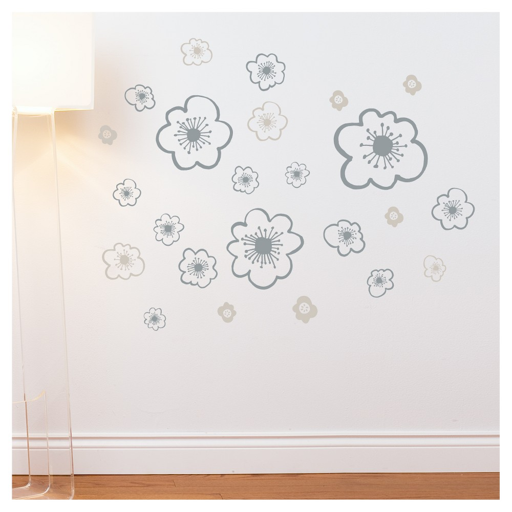 Image of Belle Wall Decal - Gray, Mid Gray
