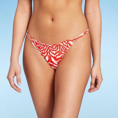 Women's Ruffle Front High Leg Extra Cheeky Bikini Bottom - Shade & Shore™