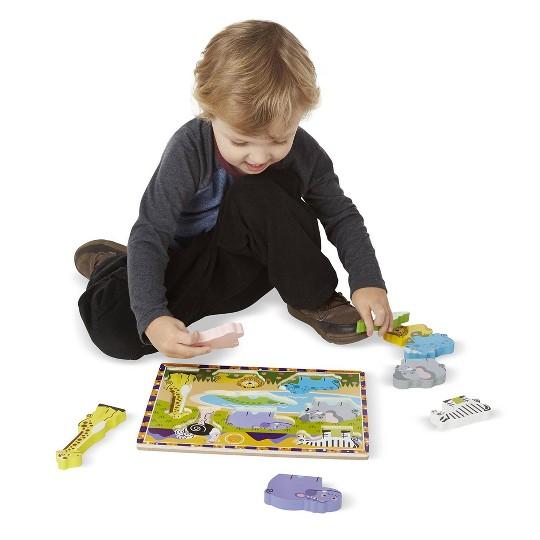 Melissa & Doug Chunky Puzzle 7pc Bundle - Safari & Sea Creatures image number null