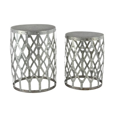 2pk Metal Patio Accent Table - Olivia & May