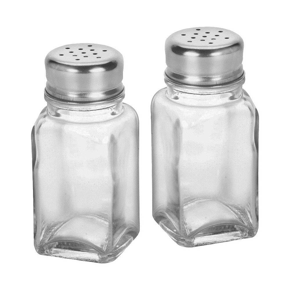 Image of Anchor Salt and Pepper Shaker Set, Clear