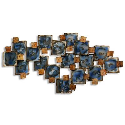 50  Burnished and Glazed Metal Decorative Wall Art - StyleCraft