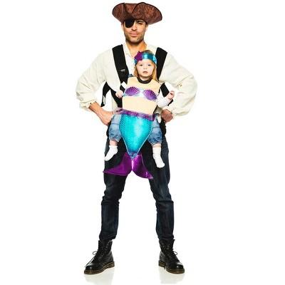 Seeing Red Pirate & Mermaid Baby Carrier Costume