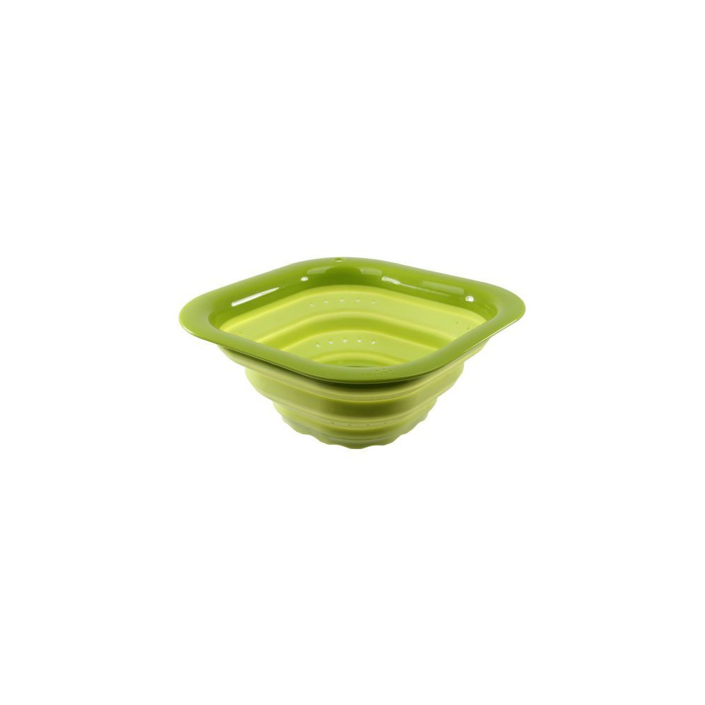 Image of 5qt Square Colander Lime - Squish, Green