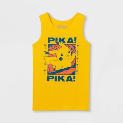 Boys' Pokemon Pika Surf Tank Top - Yellow
