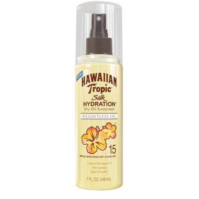 Hawaiian Tropic Silk Hydration Dry Oil Mist - SPF 15 - 5 fl oz