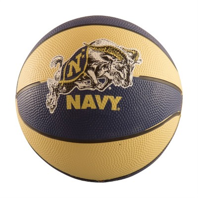 NCAA Navy Midshipmen Mini-Size Rubber Basketball