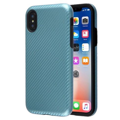 MYBAT For Apple iPhone X/XS Blue Carbon Fiber Hard TPU Hybrid Plastic Case - image 1 of 1