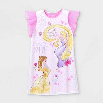 Girls' Disney Princess 'Time To Shine' Nightgown - Pink