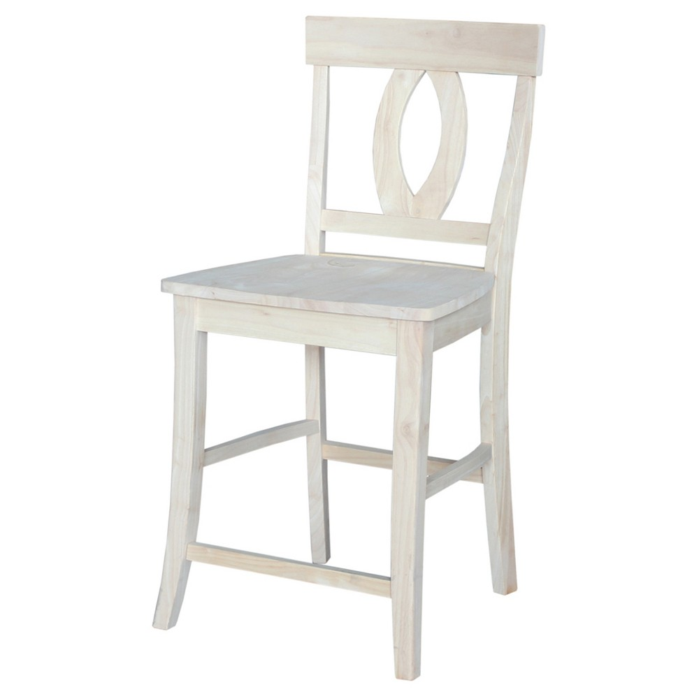 24.02 Verona Counter Stool - Unfinished - International Concepts, Ivory