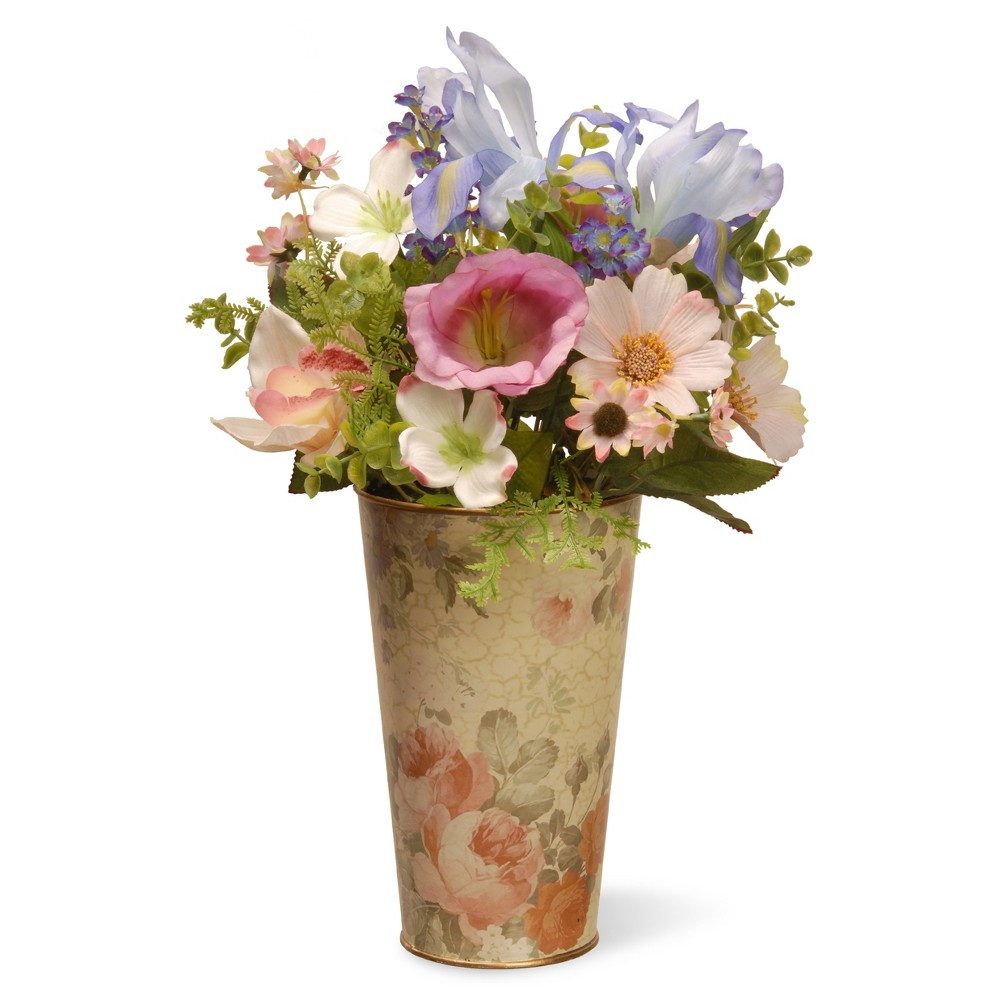 "Garden Accents Artificial Flower Assortment Blue 17"" - National Tree Company"