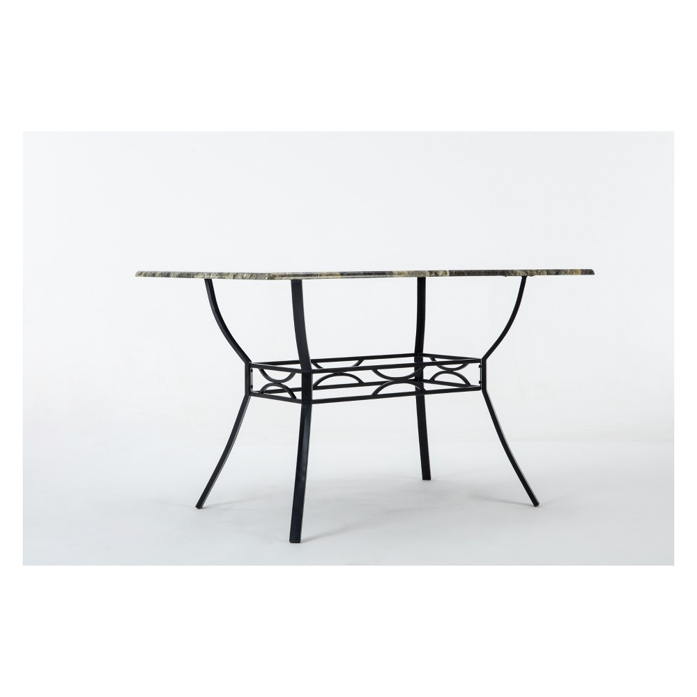 Bastian Dining Table Gray & Marble - Boraam